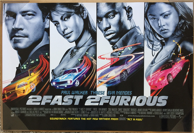 An Auction For A BRAND NEW UNUSED Near Mint Condition Single Sided INTERNATIONAL English Version ORIGINAL 1 Sheet Poster The Movie 2 FAST FURIOUS