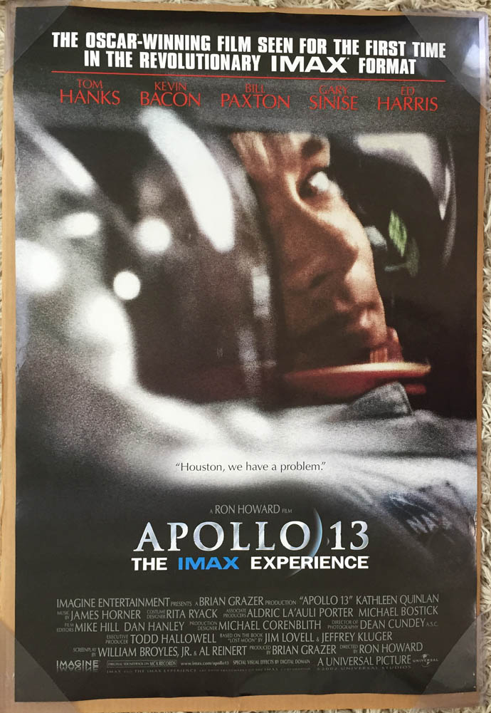 APOLLO 13 MOVIE POSTER 2 Sided ORIGINAL IMAX Rolled 27x40 ...