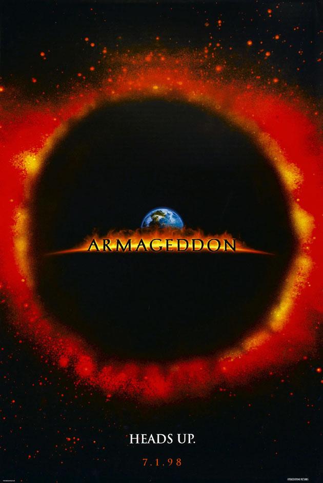 ARMAGEDDON MOVIE POSTER 2 Sided ORIGINAL Ver A 27x40 BRUCE ...
