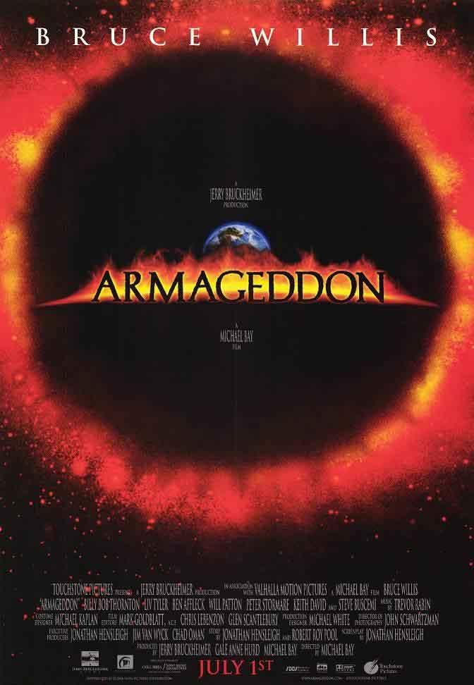 armageddon movie poster 2 sided original final 27x40 bruce willis