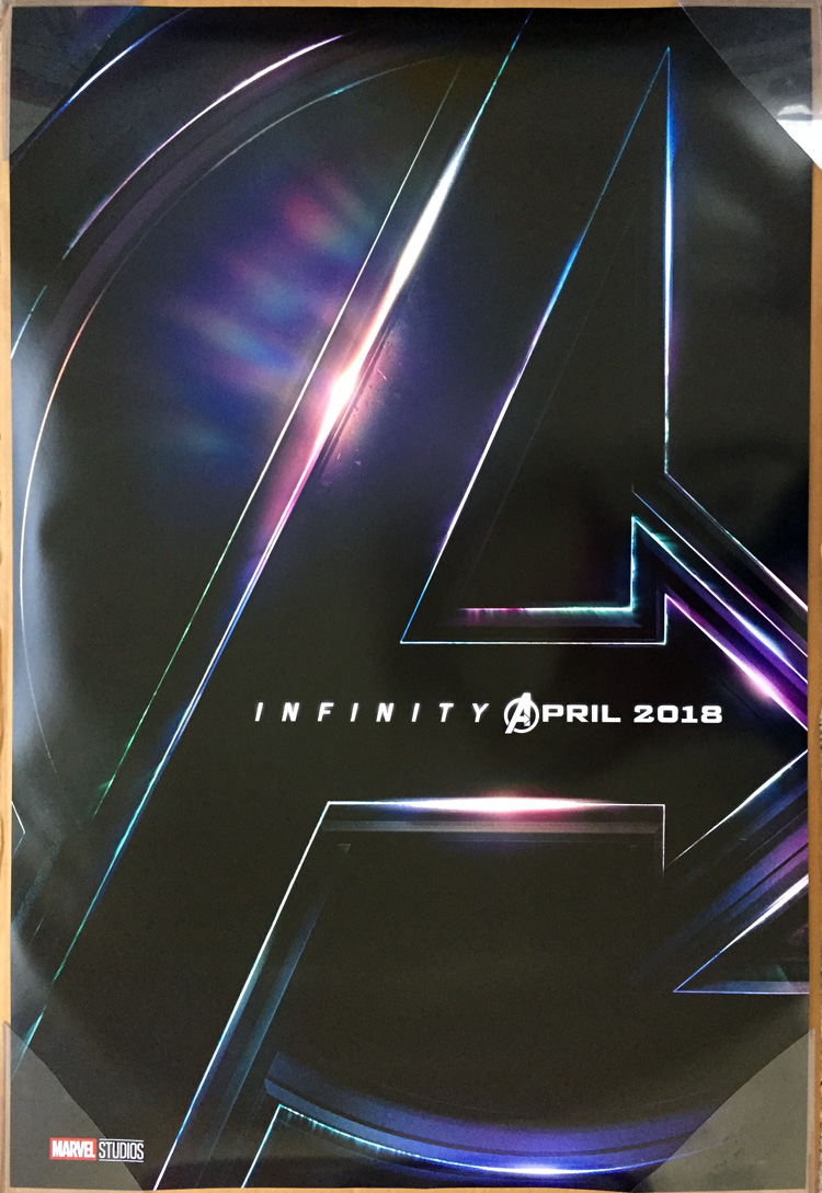 Infinity wars double sided movie poster