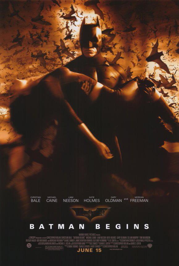 BATMAN BEGINS MOVIE POSTER 2 Sided ORIGINAL Ver D 27x40 ...