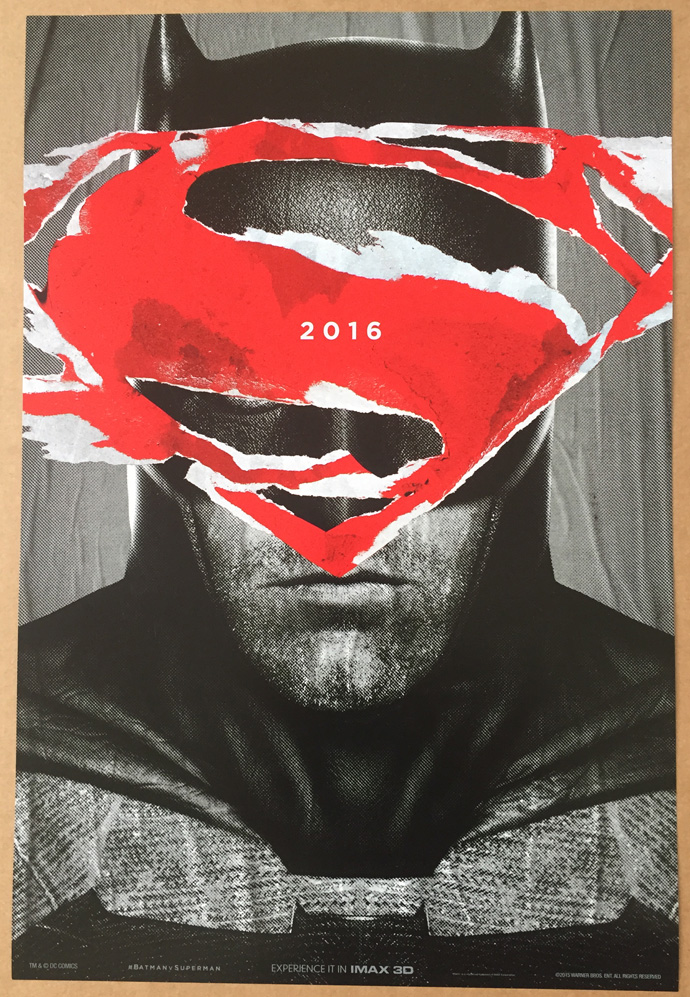 This Is An Auction For A BRAND NEW UNUSED Near Mint Condition Double Sided ORIGINAL US 1 Sheet Poster The Movie BATMAN VS SUPERMAN DAWN OF JUSTICE