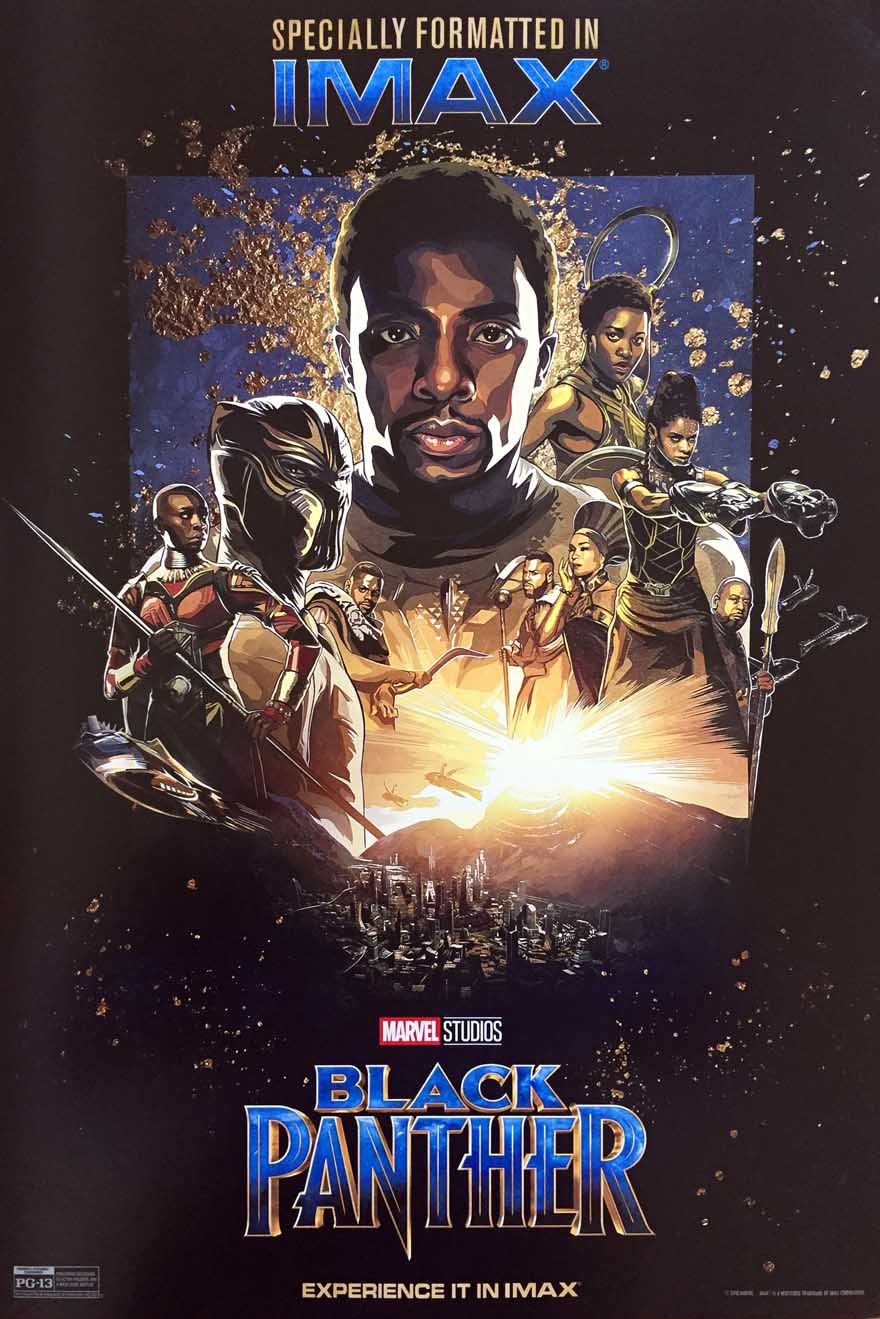 Black Panther Chadwick Boseman canvas print movie poster Marvel