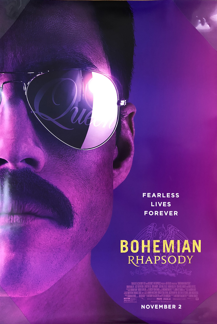 Bohemian Rhapsody Movie Poster 2 Sided Original Final 27x40 Rami