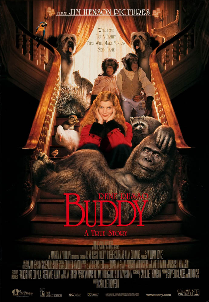 BUDDY MOVIE POSTER 2 Sided ORIGINAL ROLLED 27x40 RENE ...