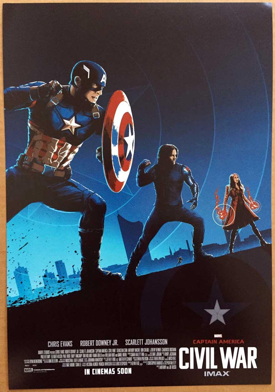 Sonstige Captain America Civil War Glas Poster Captain America ...