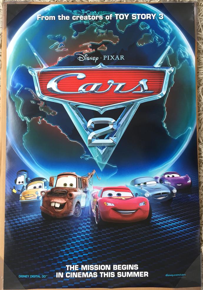 Cars 2 Movie Poster 2 Sided Original Rare Intl Ver C 27x40 Owen