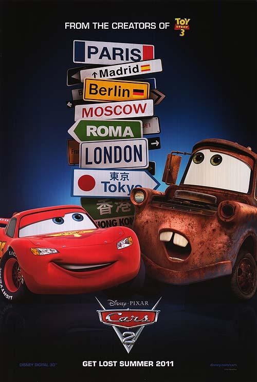 Cars 2 Movie Poster 2 Sided Original Rare Intl 27x40 Owen Wilson Ebay