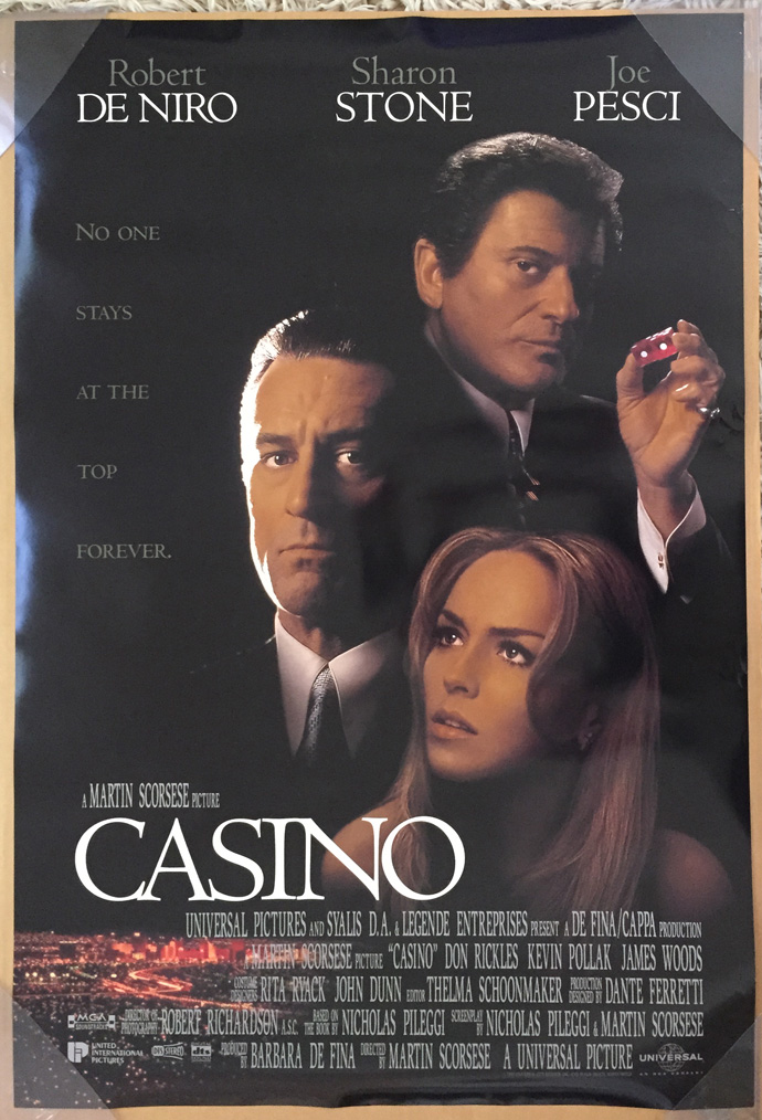 CASINO MOVIE POSTER 2 Sided ORIGINAL FINAL ROLLED VF 27x40 ...