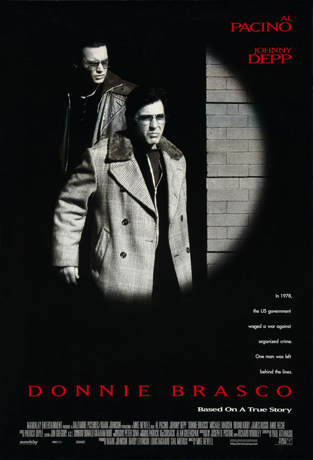 DONNIE BRASCO MOVIE POSTER 2 Sided ORIGINAL ROLLED 27x40 ...