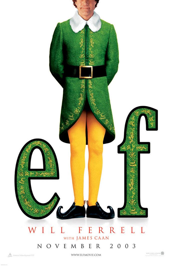 Elf Movie Poster elf movie poster 2 sided original advance 27x40 will ...