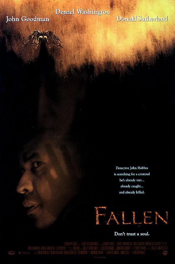 fallen movie poster ds original 27x40 denzel washington