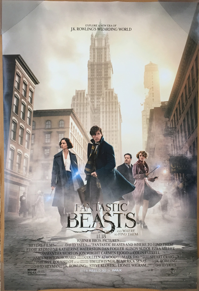FANTASTIC BEASTS AND WHERE TO FIND THEM MOVIE POSTER DS ...