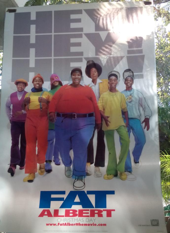 fat albert movie poster rare original lenticular 27x40