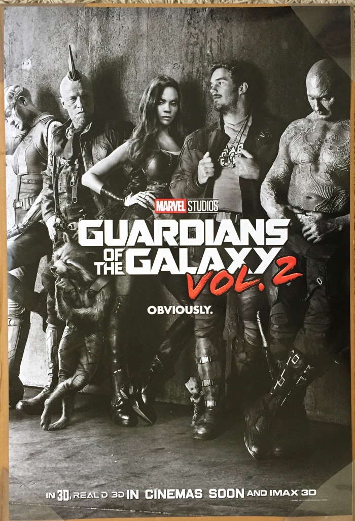 GUARDIANS OF THE GALAXY Vol. 2 MOVIE POSTER 2 Sided ...