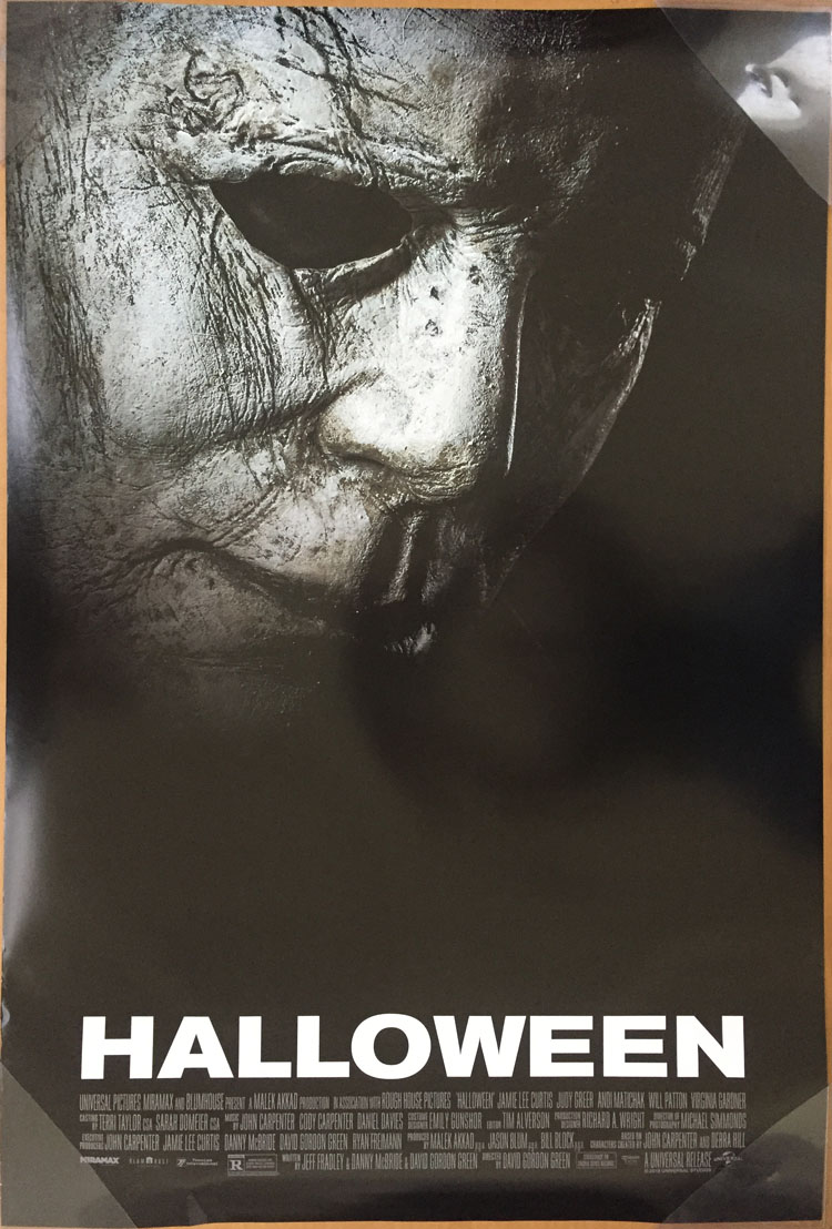Halloween Movie Poster 2 Sided Original Final 2018 27x40 Michael
