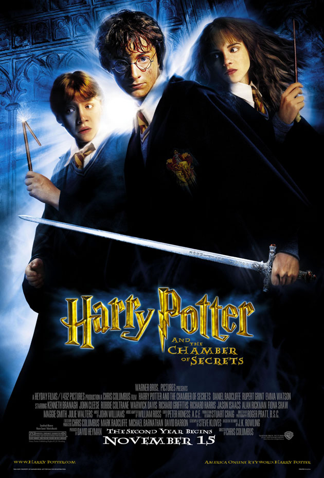 Details About Harry Potter Chamber Of Secrets Movie Poster 2 Sided Original Final 27x40