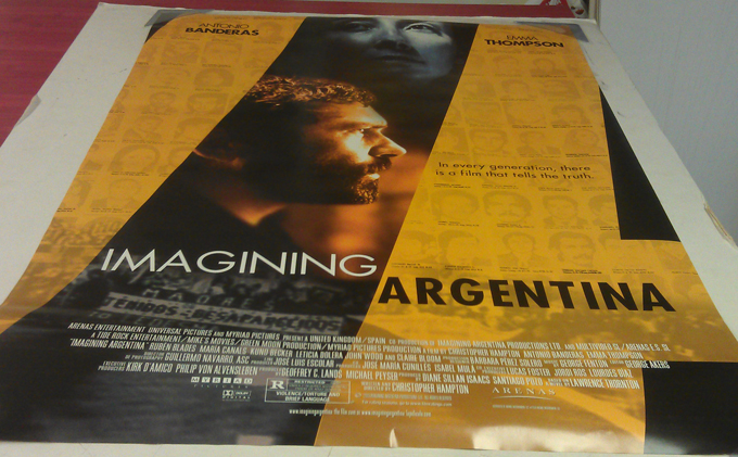 IMAGINING ARGENTINA MOVIE POSTER 2 Sided ORIGINAL ROLLED ...