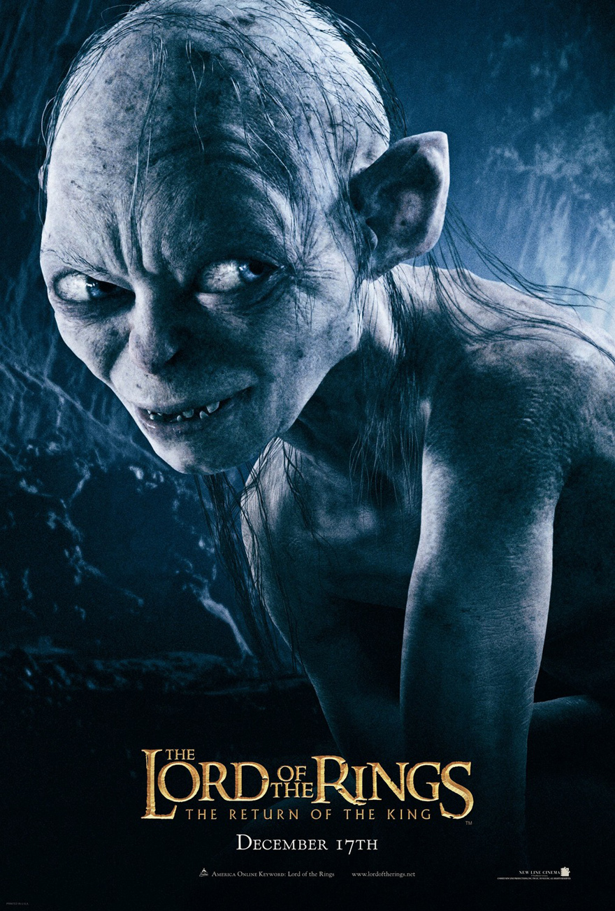 Lord Of The Rings Return King Poster 2 Sided Original Gollum 27x40