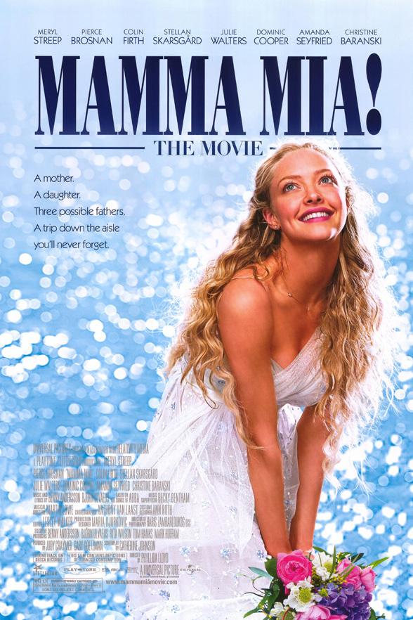 MAMMA MIA MOVIE POSTER 2 Sided ORIGINAL FINAL 27x40 AMANDA ...