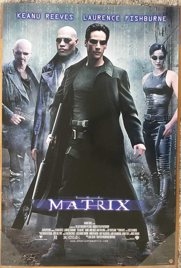 THE MATRIX DVD MOVIE POSTER 1 Sided ORIGINAL 27x40 KEANU ...