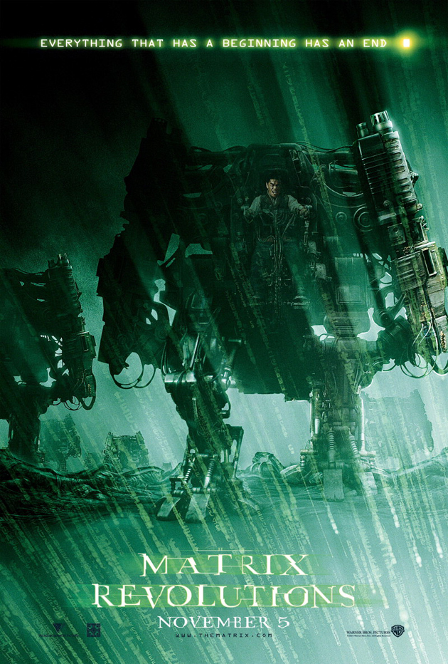 THE MATRIX REVOLUTIONS MOVIE POSTER 2 Sided ORIGINAL ...