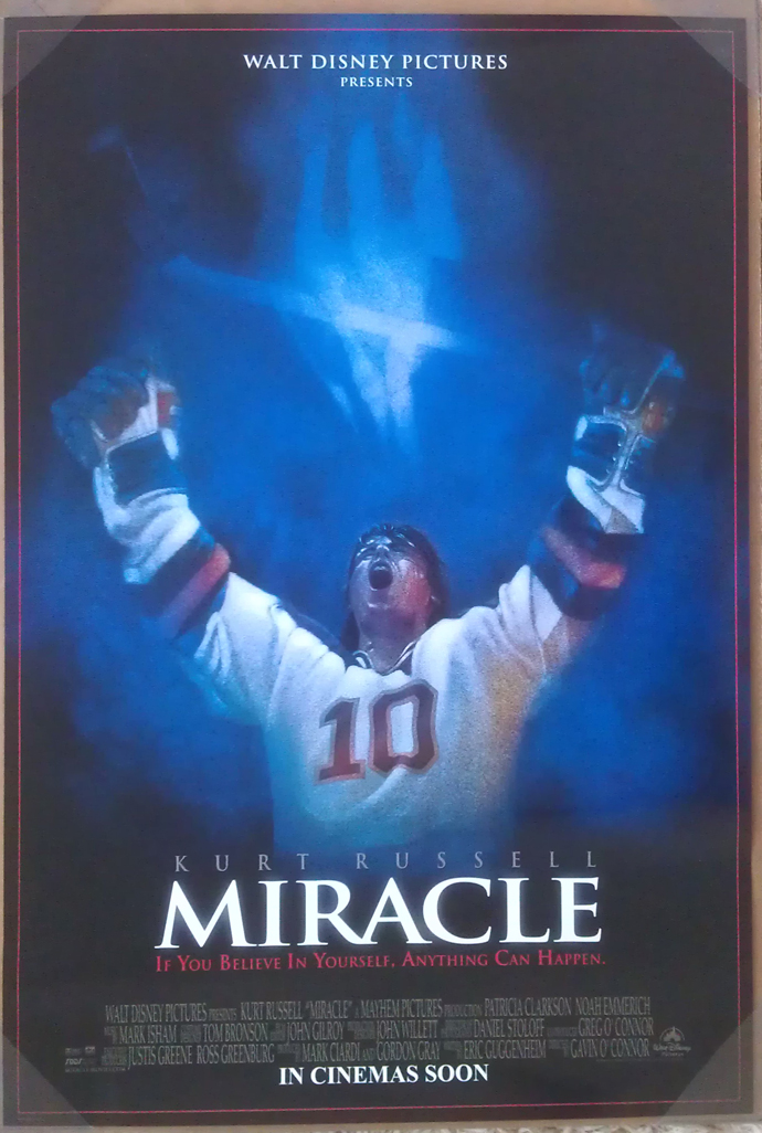 MIRACLE MOVIE POSTER 2 Sided ORIGINAL ROLLED 27x40 KURT ...