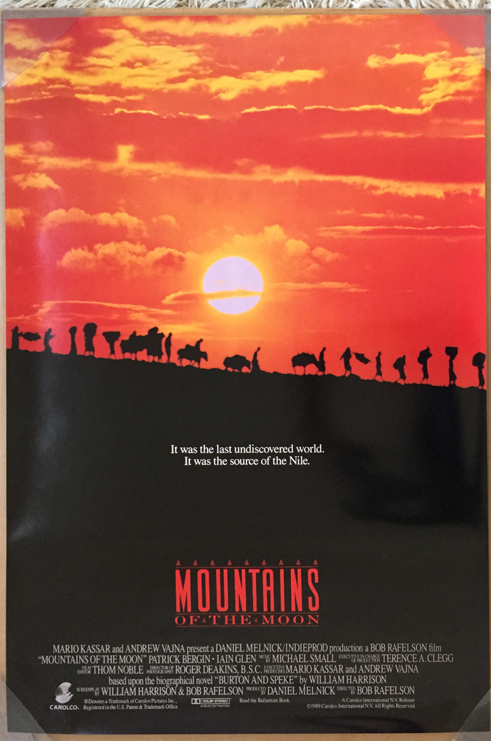 mountains of the moon movie poster 1 sided original ver b rolled 27x40 ebay. Black Bedroom Furniture Sets. Home Design Ideas