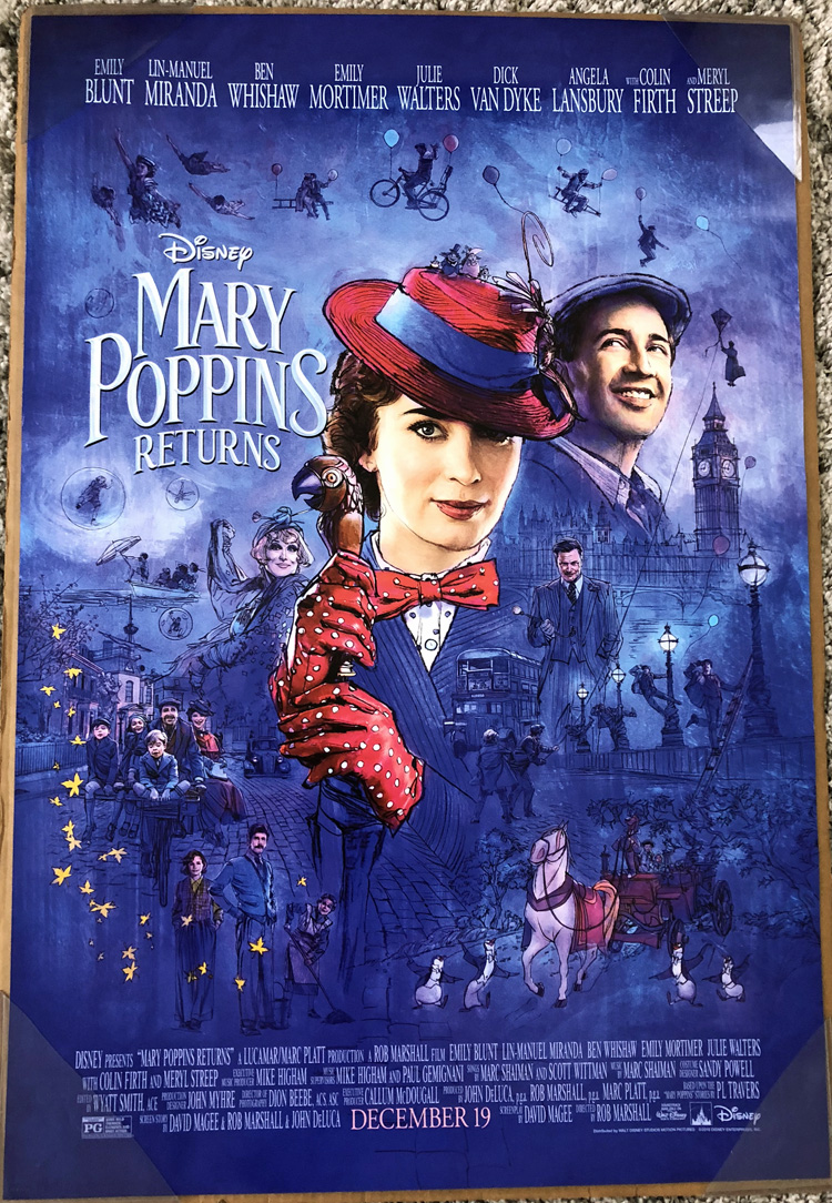 Details About Mary Poppins Returns Movie Poster 2 Sided Original Final 27x40 Emily Blunt