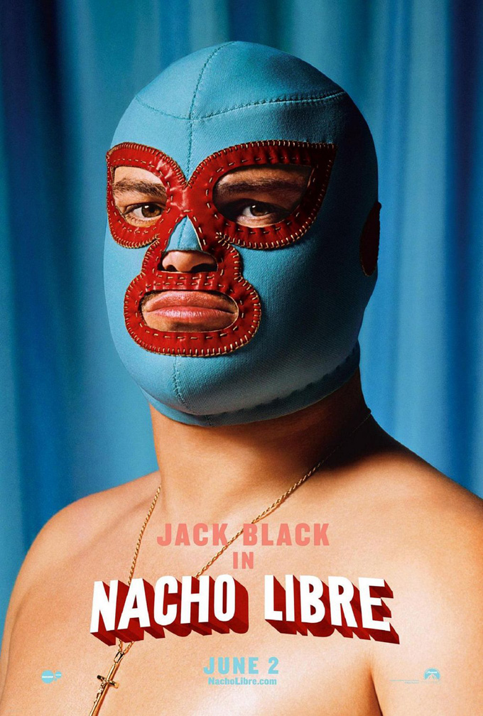 This is an auction for a BRAND NEW/UNUSED Near Mint condition Double Sided ORIGINAL ROLLED US 1 sheet poster for the movie NACHO LIBRE. - nachom
