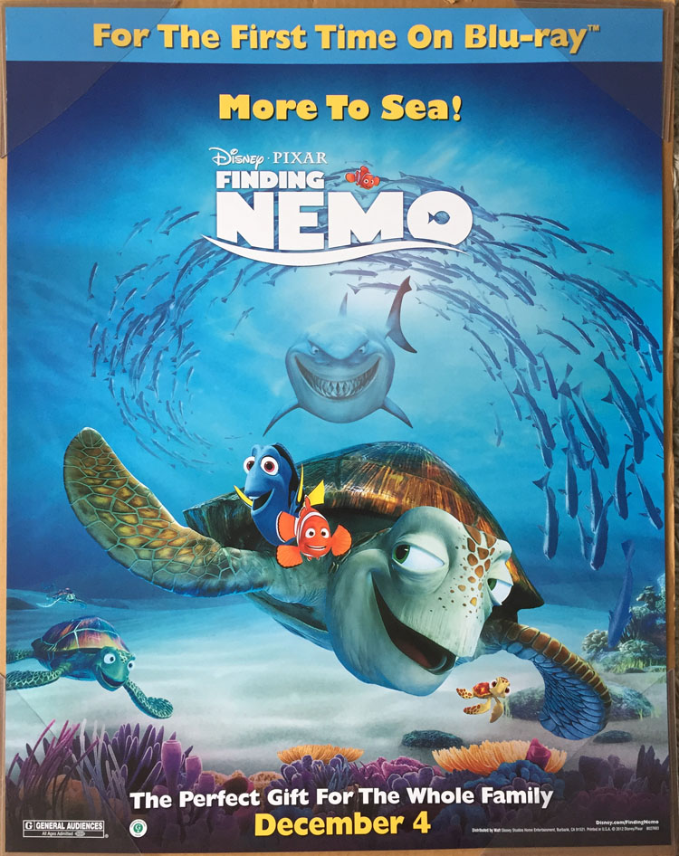 Finding nemo dvd movie poster 1 sided original mini 22x28 albert this is an auction for a brand newunused near mint condition single sided original us dvd mini sheet poster for the movie finding nemo altavistaventures Image collections