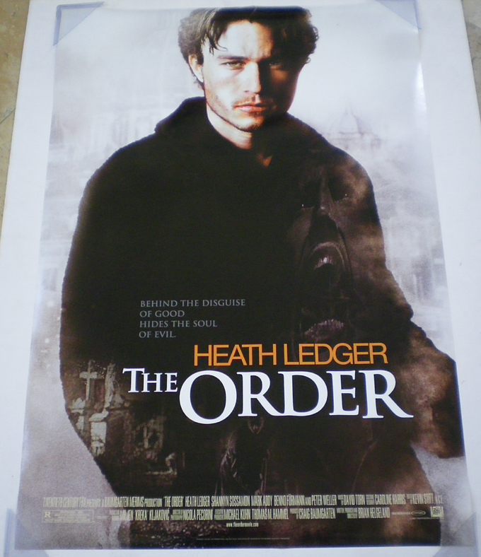 THE ORDER MOVIE POSTER 2 Sided ORIGINAL ROLLED 27x40 | eBay
