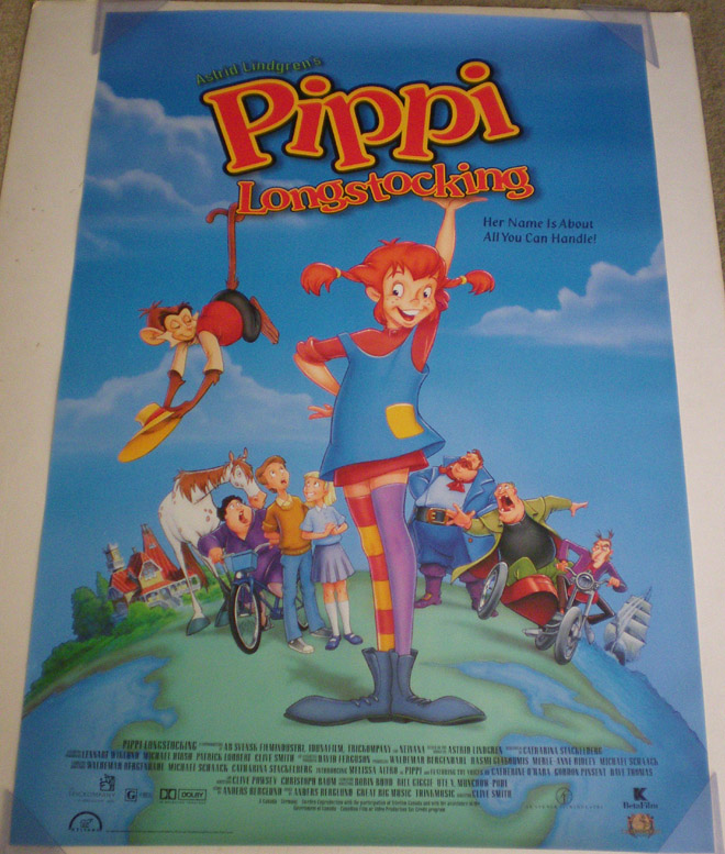 Checking Out Pippi Longstocking From >> Details About Pippi Longstocking Movie Poster 1 Sided Original 27x40