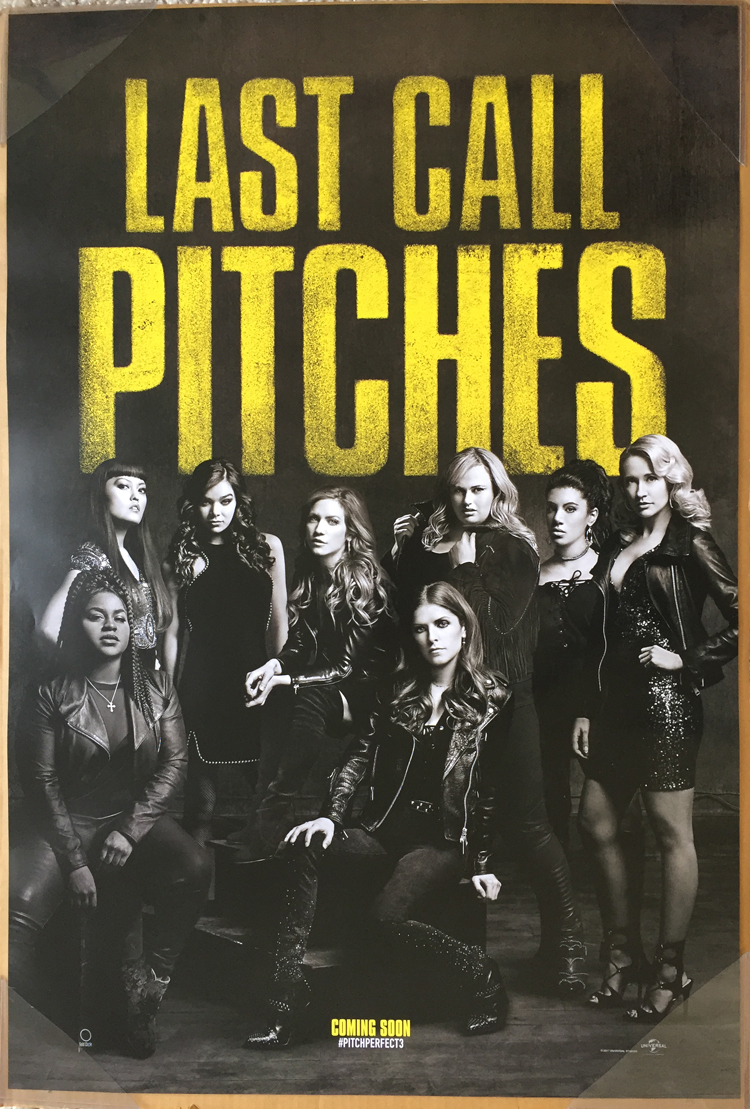 Pitch Perfect 3 Movie Poster 2 Sided Original Advance
