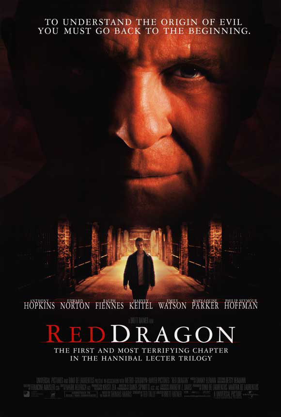 RED DRAGON MOVIE POSTER 2 Sided ORIGINAL FINAL 27x40 ...