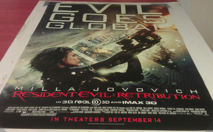 Resident Evil Retribution Movie Poster Ds Original Adv D 27x40