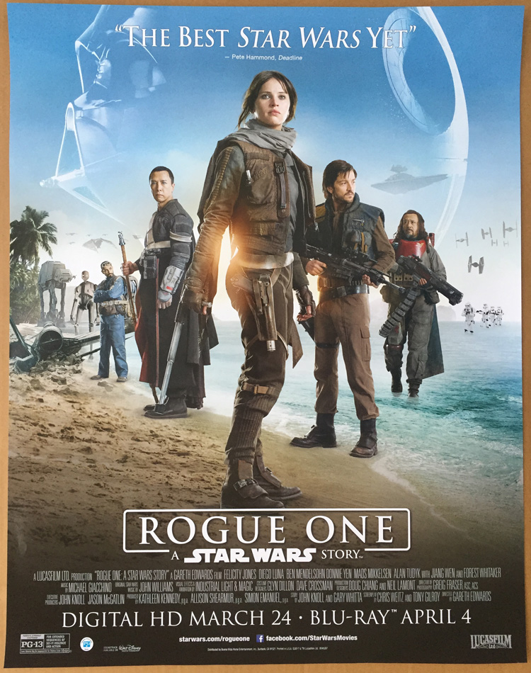 Details About Rogue One A Star Wars Story Dvd Movie Poster 1 Sided Original Mini 22x28