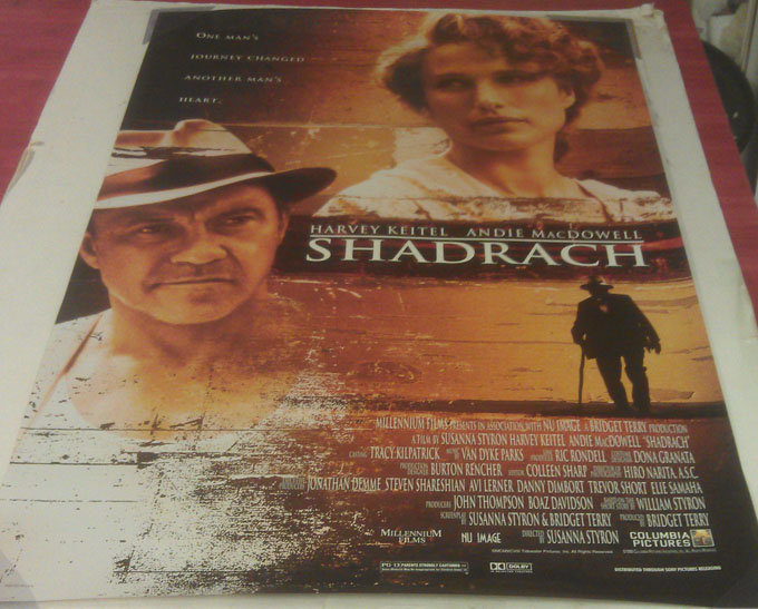 shadrach movie poster 2 sided original 27x40 harvey keitel