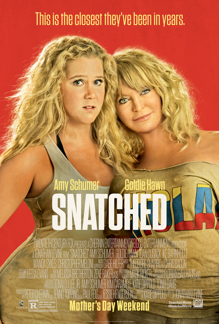 SNATCHED MOVIE POSTER 2 Sided ORIGINAL Advance 27x40 AMY SCHUMER GOLDIE HAWN