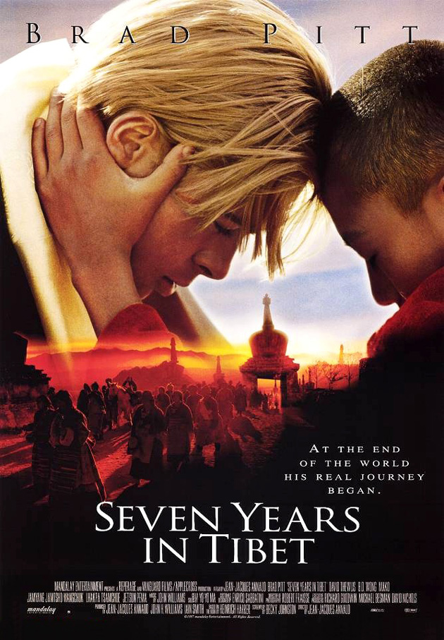 SEVEN YEARS IN TIBET MOVIE POSTER 2 Sided ORIGINAL 27x40 ...