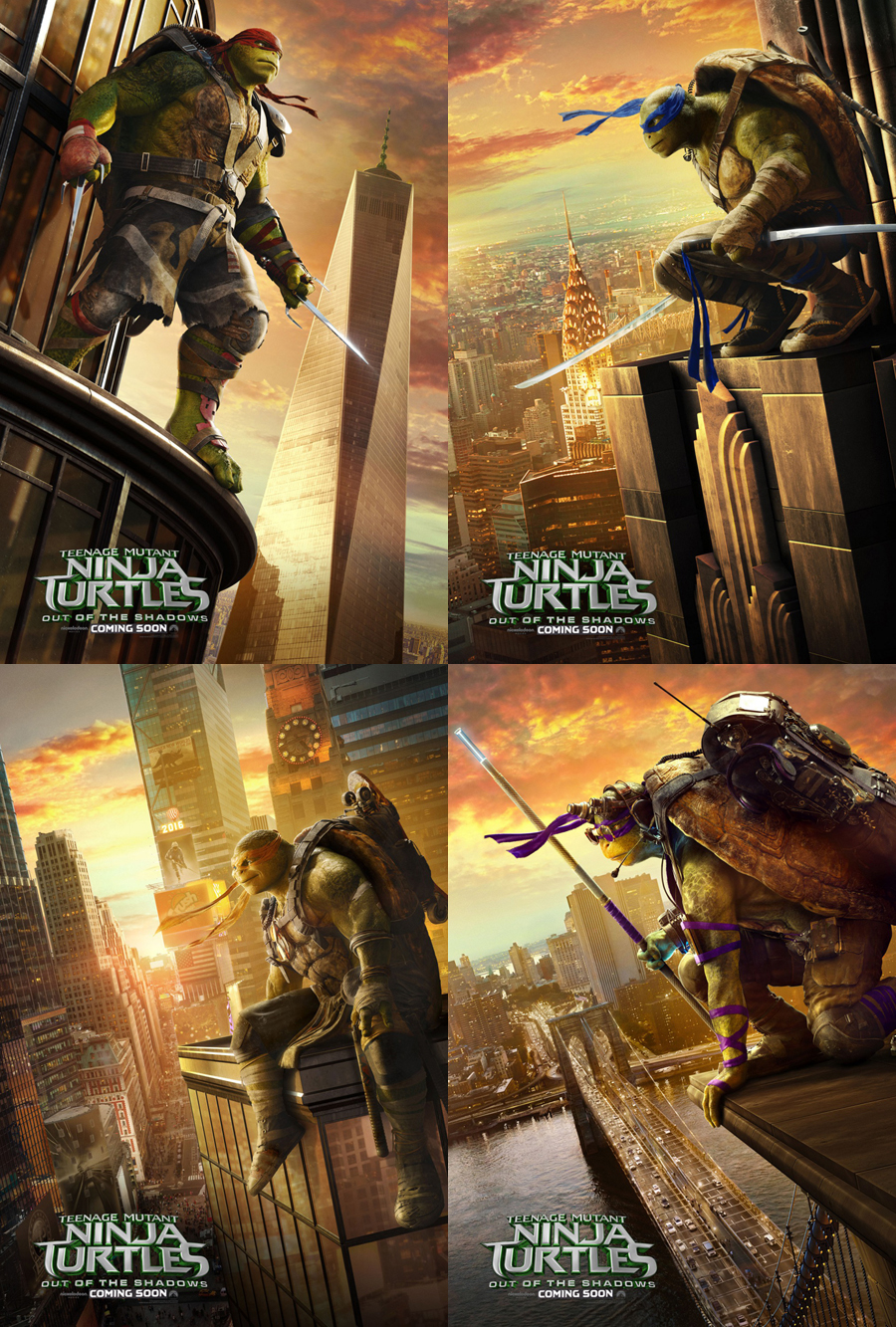 Teenage Mutant Ninja Turtles Out Of The Shadows Movie Poster Original Set 27x40 Ebay