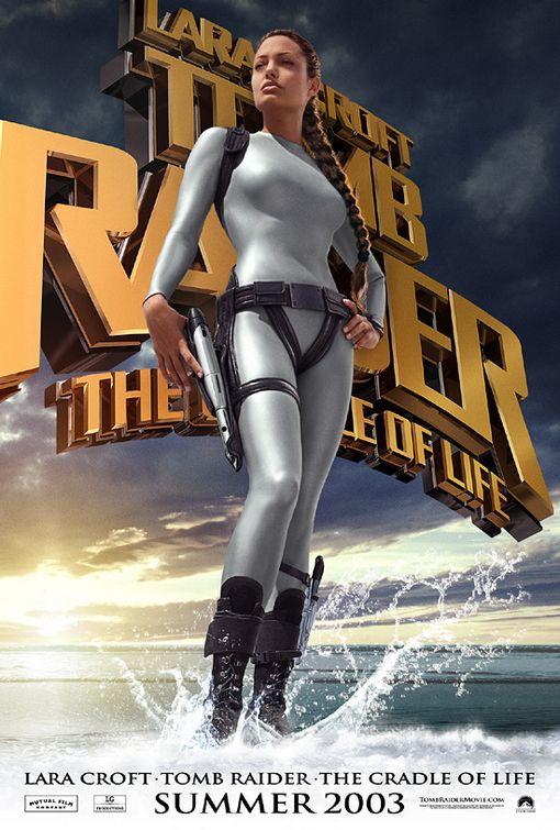 Tomb Raider 2 Movie Poster 1 Sided Original Advance 27x40 Angelina