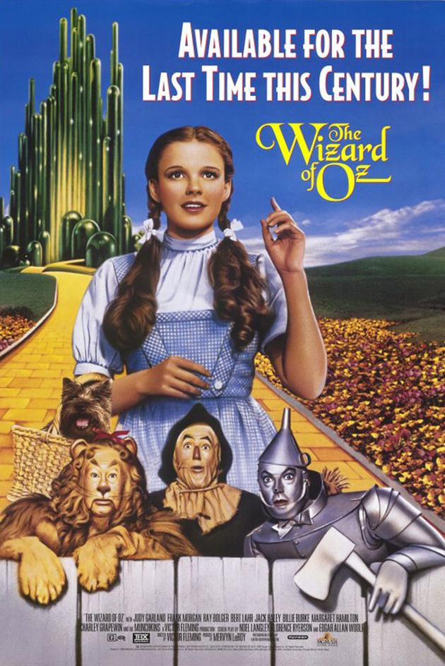 wizard of oz movie poster 1 sided original video 27x40 ebay